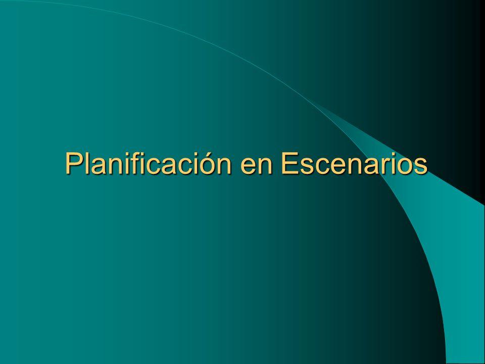 Planificación en Escenarios