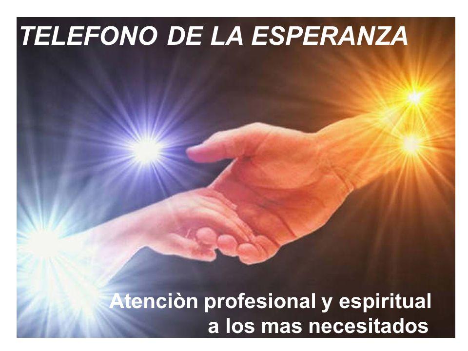 TELEFONO DE LA ESPERANZA Una alternativa para la prevenciòn del suicidio SANTIAGO DUARTE ALFONZO Paraguay TELEFONO DE LA ESPERANZA Atenciòn profesiona