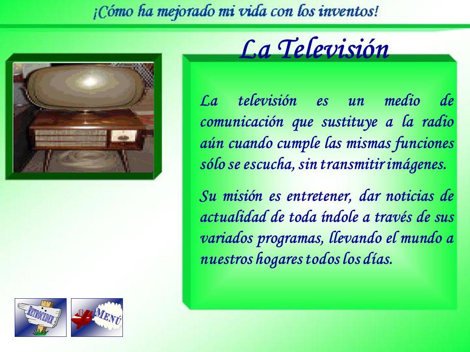 La Televisión Es el proceso de transmitir imágenes y sonidos a distancia, con la ventaja de apreciar las escenas y sucesos al mismo tiempo del lugar d