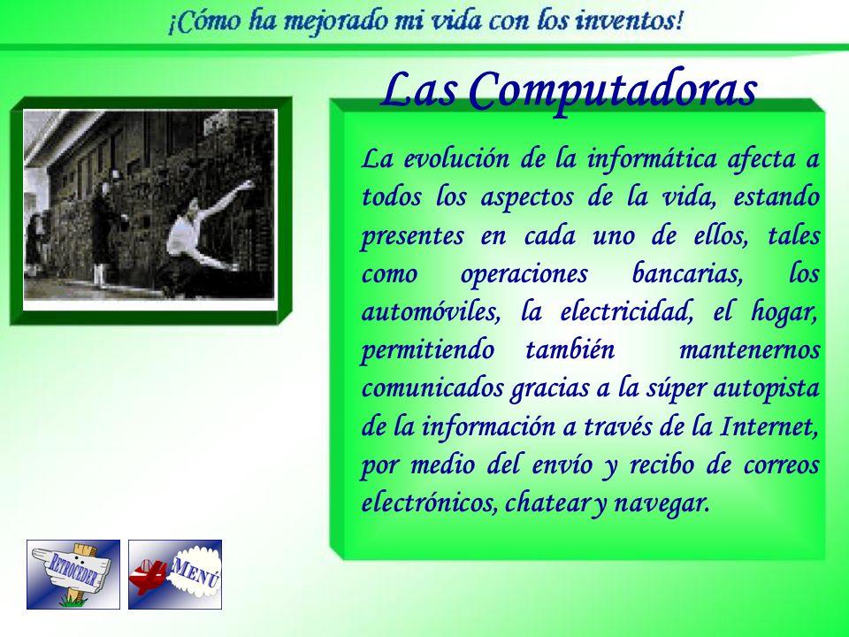 Las Computadoras Es una máquina capaz de recibir, almacenar, procesar y suministrar información en forma de señales eléctricas mediante un programa. L