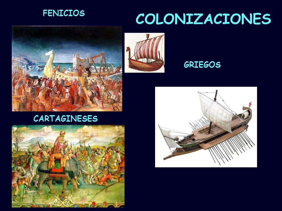 Mª Vvictoria Landa FENICIOS GRIEGOS CARTAGINESES COLONIZACIONES