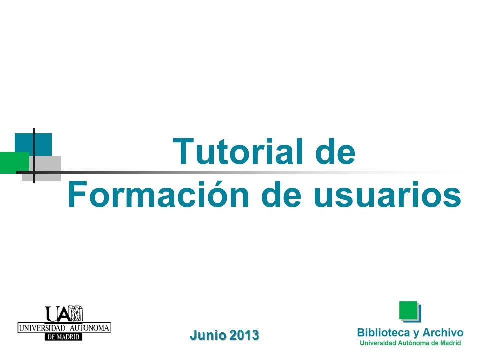 Tutorial de Formación de usuarios Junio 2013