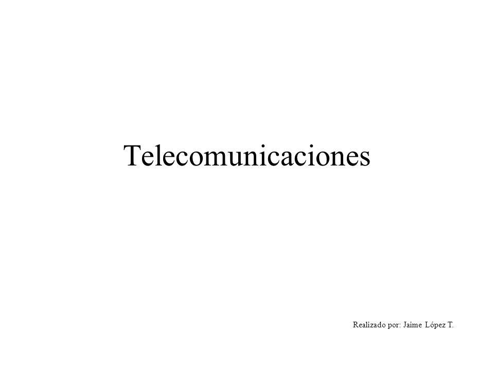 Telecomunicaciones Realizado por: Jaime López T.