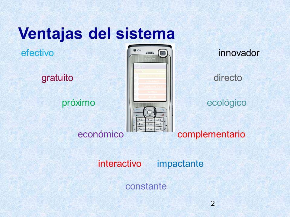 2 Ventajas del sistema efectivo gratuito innovador directo impactante próximo complementarioeconómico interactivo ecológico constante