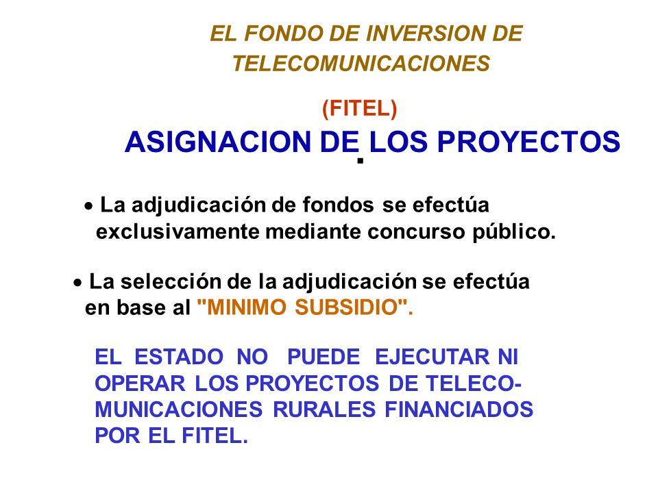 EL FONDO DE INVERSION DE TELECOMUNICACIONES (FITEL).
