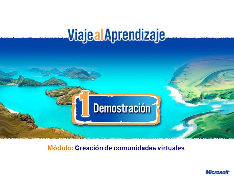 Creación de comunidades virtuales R e d d e P r o f e s o r e s I n n o v a d o r e s Módulo: Creación de comunidades virtuales