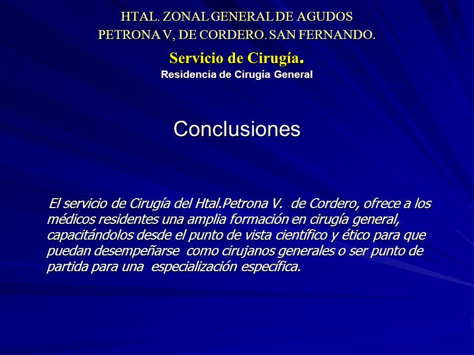 HTAL. ZONAL GENERAL DE AGUDOS PETRONA V, DE CORDERO.