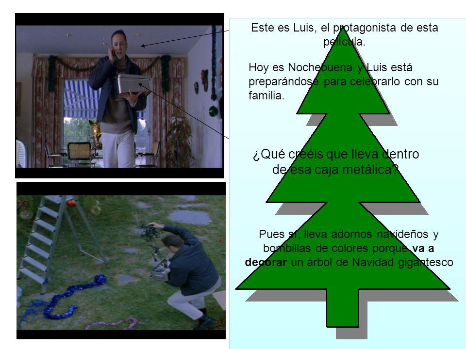 Hoy es Nochebuena y Luis está preparándose para celebrarlo con su familia.