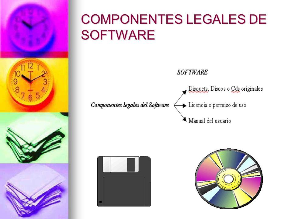 COMPONENTES LEGALES DE SOFTWARE