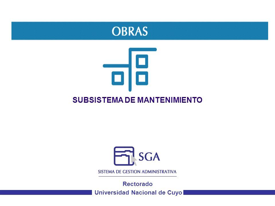 Objetivos del Subsistema de Solicitudes de Mantenimiento Automatizar los procesos del circuito de solicitudes de mantenimiento.