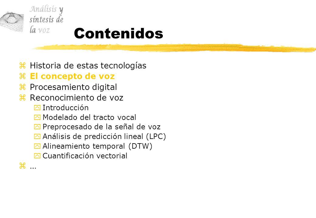 Reconocimiento de voz zAnálisis de predicción lineal (LPC) yUna de las técnicas más usadas en el procesamiento de señales de voz viene a ser el análisis de predicción lineal.
