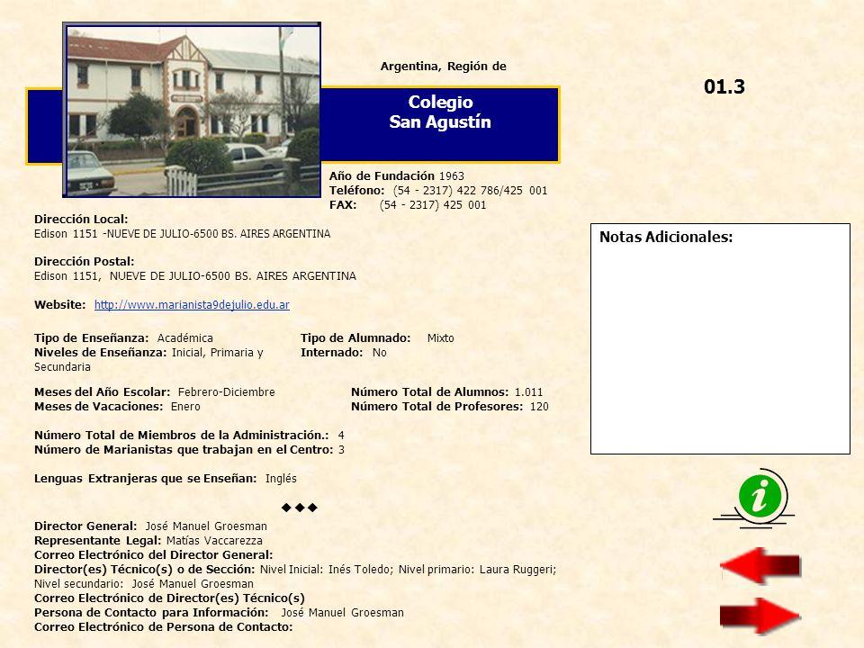Notas Adicionales: España, Provincia de Colegio Hermanos Amorós Dirección Local: Gómez de Arteche, 28 - 28044 MADRID ESPAÑA Dirección Postal: Idem Website: http://www.colegioamoros.orghttp://www.colegioamoros.org Año de Fundación 1961 Teléfono: (34 - 91) 511 11 30 FAX: (34 - 91) 508 30 64 Director General: D.