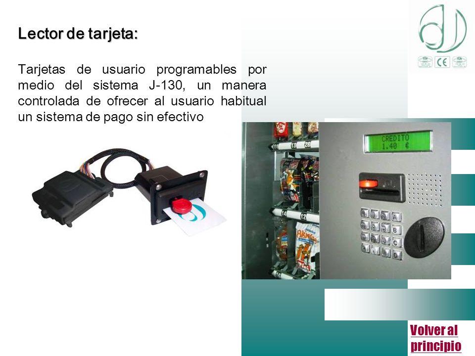 Volver al principio Lector de tarjeta: Tarjetas de usuario programables por medio del sistema J-130, un manera controlada de ofrecer al usuario habitual un sistema de pago sin efectivo