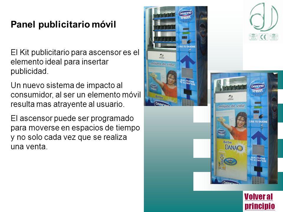Volver al principio Panel publicitario móvil El Kit publicitario para ascensor es el elemento ideal para insertar publicidad.