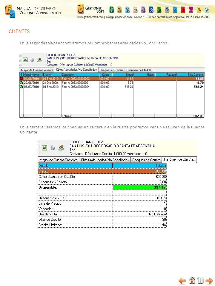 CLIENTES Enviar listado actual a Excel Por medio de éste ícono podremos enviar un listado con los datos de clientes a Microsoft Excel Imprimir Aquí podremos configurar los campos que deseamos incluir para generar un listado que luego imprimiremos.