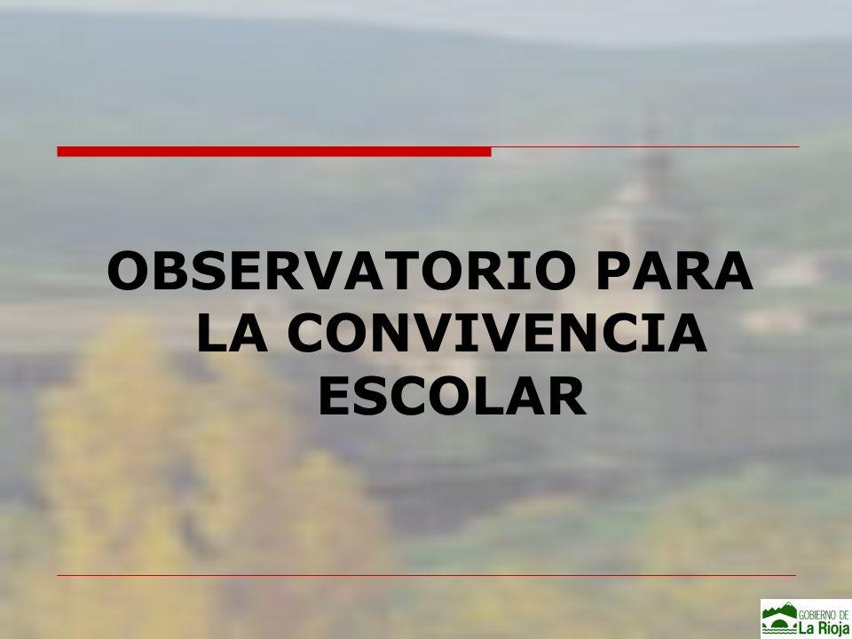 OBSERVATORIO - Fines Contribuir a mejorar la convivencia en los centros educativos Instrumento, al servicio de la sociedad, para el conocimiento, análisis, evaluación y valoración de la convivencia en los centros escolares de la Comunidad de La Rioja 9