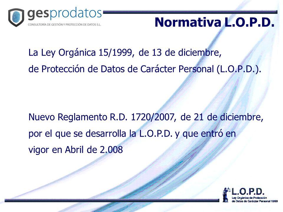 Normativa L.O.P.D.