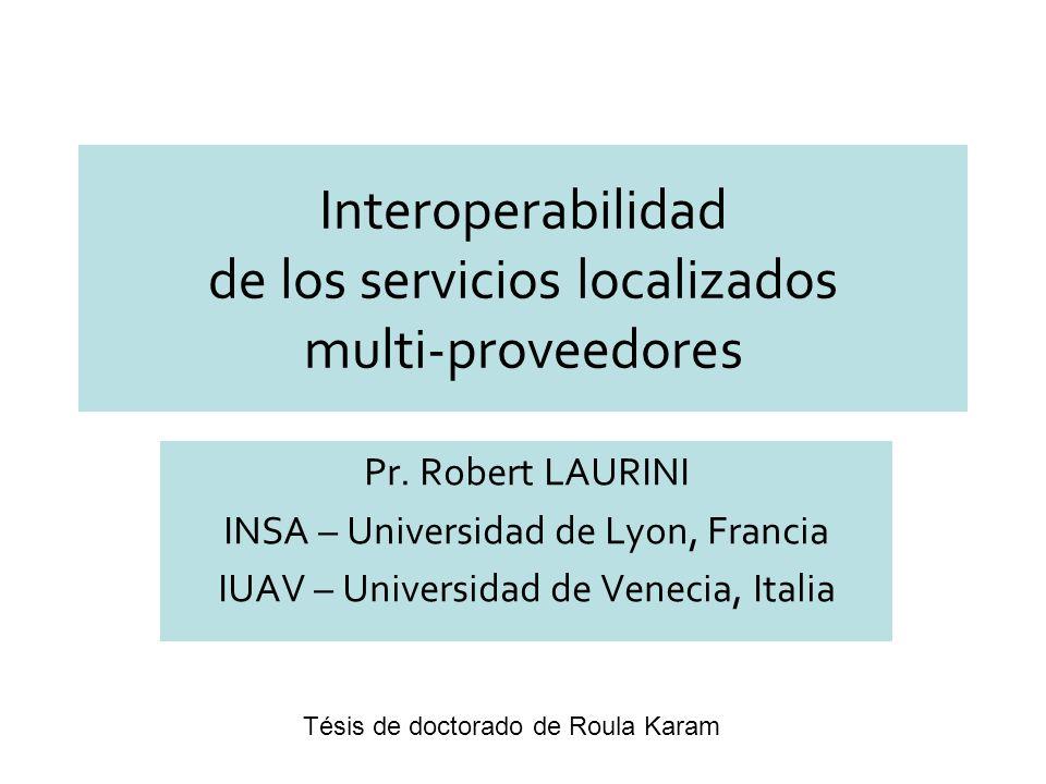 Interoperabilidad de los servicios localizados multi-proveedores Pr.