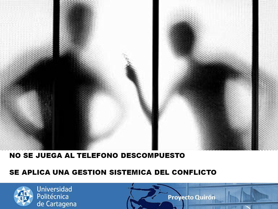 Proyecto Quirón NO SE JUEGA AL TELEFONO DESCOMPUESTO SE APLICA UNA GESTION SISTEMICA DEL CONFLICTO