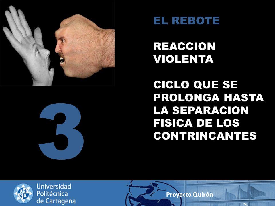EL REBOTE REACCION VIOLENTA CICLO QUE SE PROLONGA HASTA LA SEPARACION FISICA DE LOS CONTRINCANTES 3 Proyecto Quirón