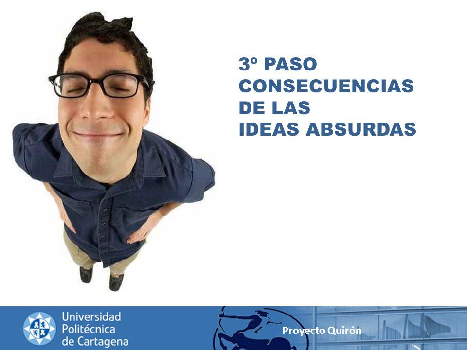 3º PASO CONSECUENCIAS DE LAS IDEAS ABSURDAS Proyecto Quirón