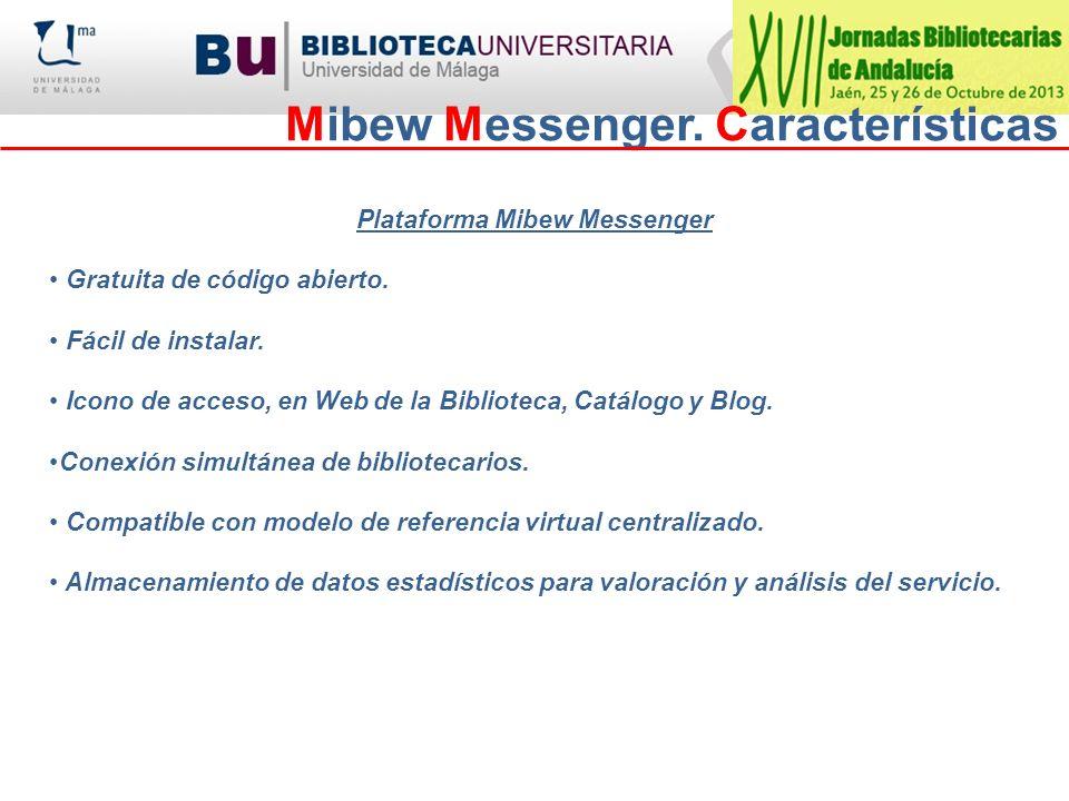 Mibew Messenger. Características Plataforma Mibew Messenger Gratuita de código abierto. Fácil de instalar. Icono de acceso, en Web de la Biblioteca, C