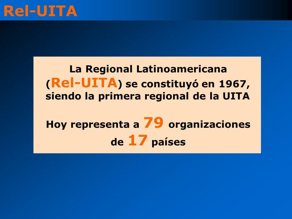 La Regional Latinoamericana ( Rel-UITA ) se constituyó en 1967, siendo la primera regional de la UITA Hoy representa a 79 organizaciones de 17 países Rel-UITA
