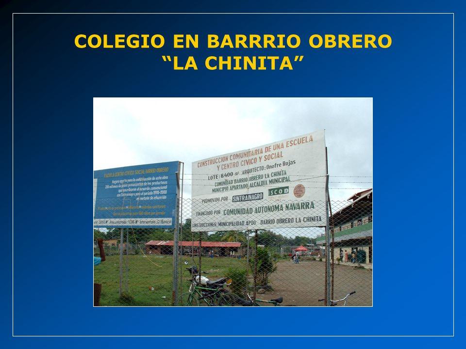 COLEGIO EN BARRRIO OBRERO LA CHINITA