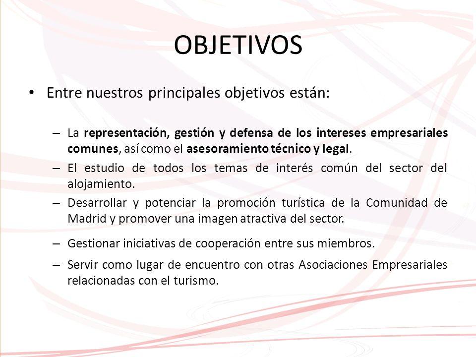 OBJETIVOS Entre nuestros principales objetivos están: – La representación, gestión y defensa de los intereses empresariales comunes, así como el asesoramiento técnico y legal.