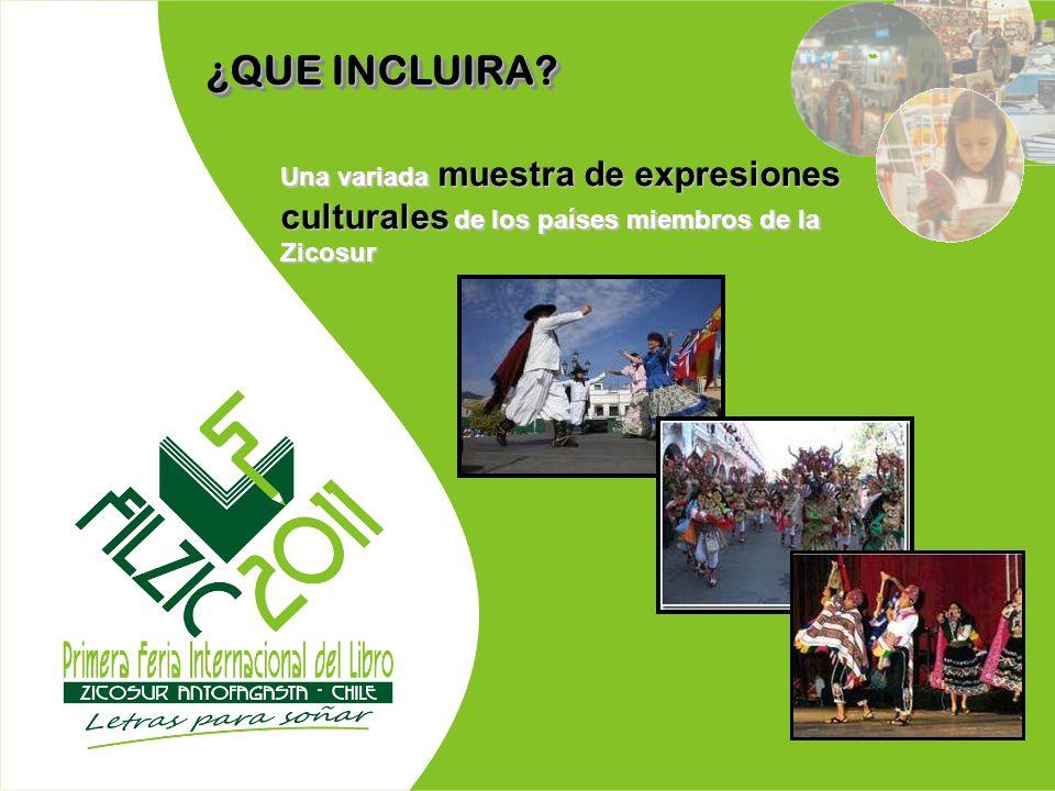 Una variada muestra de expresiones culturales de los países miembros de la Zicosur ¿QUE INCLUIRA?