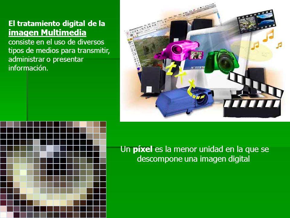 El tratamiento digital de la imagen Multimedia consiste en el uso de diversos tipos de medios para transmitir, administrar o presentar información. Un