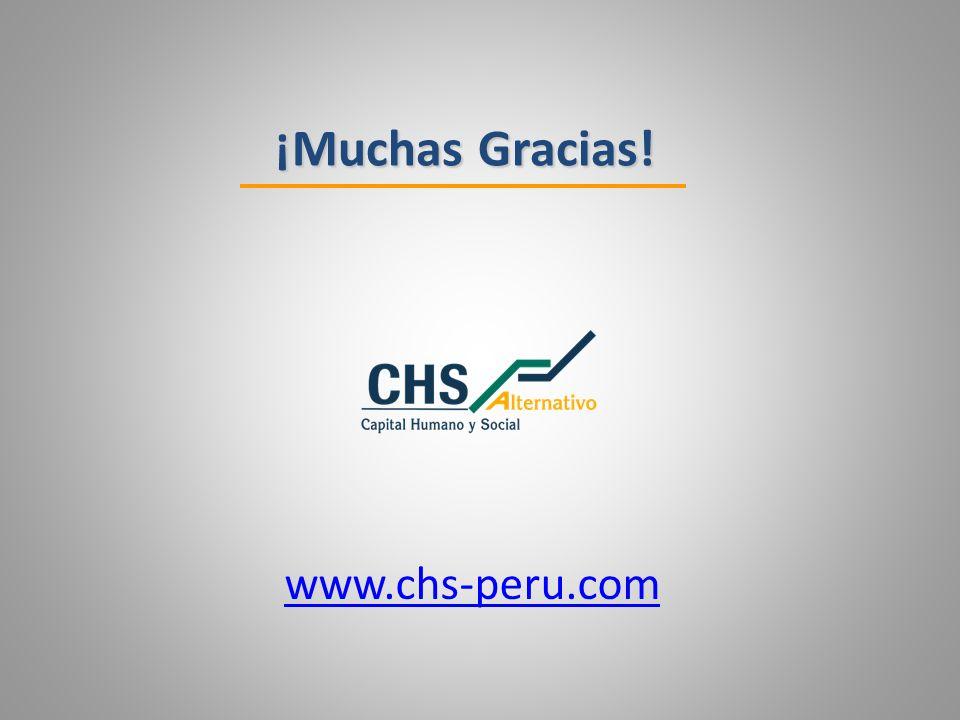 ¡Muchas Gracias! www.chs-peru.com