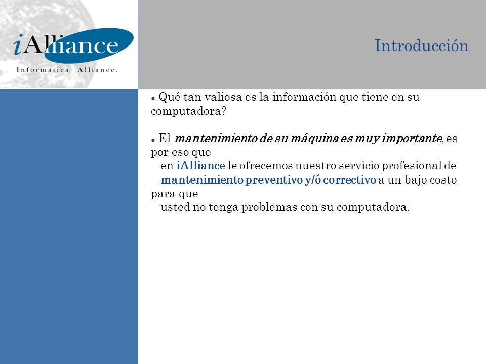 Beneficios del servicio de mantenimiento Programación de mantenimientos, a conveniencia del cliente.