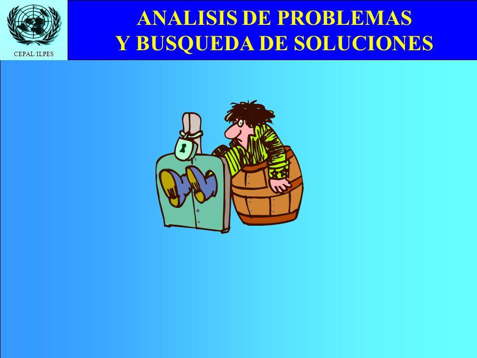 CEPAL/ILPES ANALISIS DE PROBLEMAS Y BUSQUEDA DE SOLUCIONES 1.