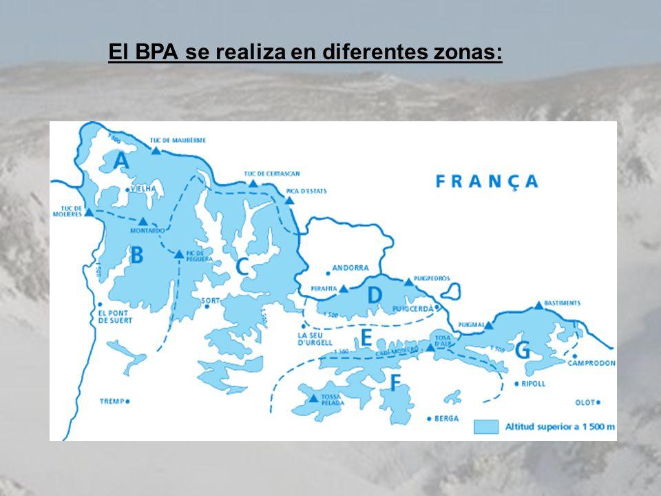 El BPA se realiza en diferentes zonas: