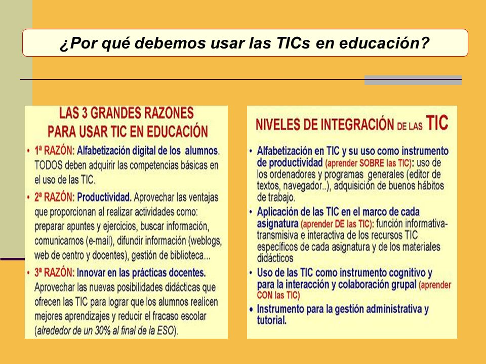 ¿Por qué debemos usar las TICs en educación?