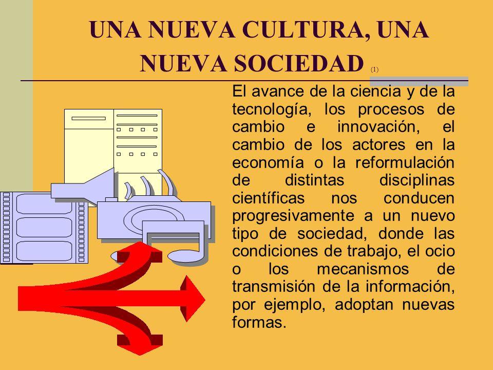 El avance de la ciencia y de la tecnología, los procesos de cambio e innovación, el cambio de los actores en la economía o la reformulación de distint