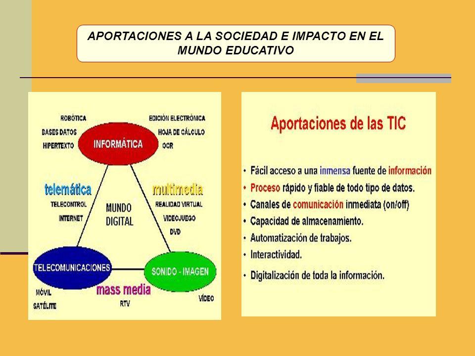 APORTACIONES A LA SOCIEDAD E IMPACTO EN EL MUNDO EDUCATIVO