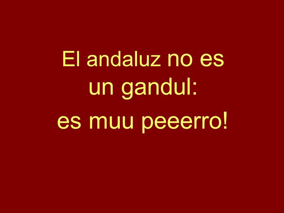 El andaluz no es un gandul: es muu peeerro!