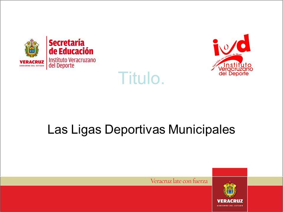 Titulo. Las Ligas Deportivas Municipales