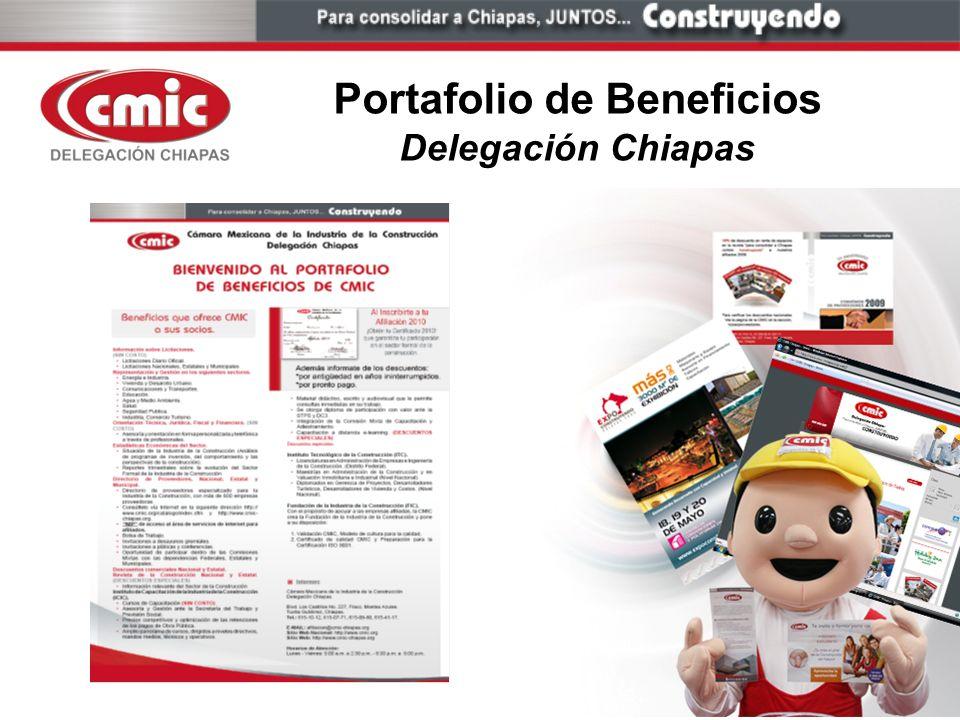 Portafolio de Beneficios Delegación Chiapas