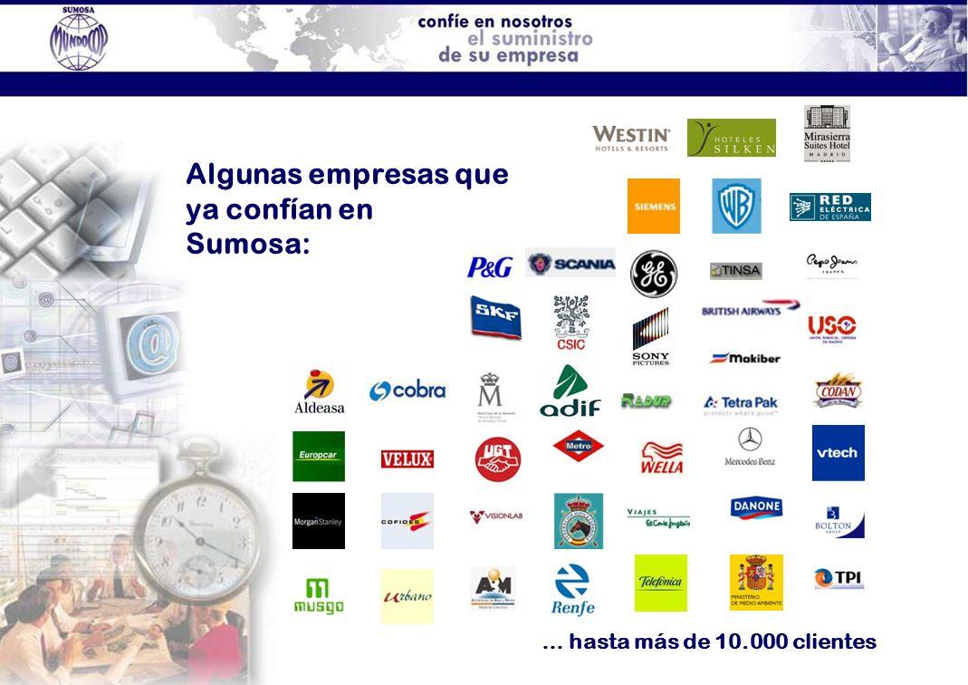 Algunas empresas que ya confían en Sumosa: … hasta más de 10.000 clientes