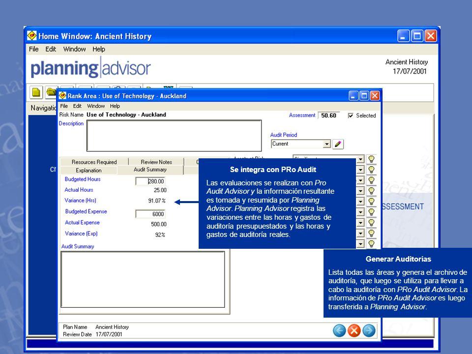 w w w. m e t h o d w a r e. c o m Generar Auditorías Lista todas las áreas y genera el archivo de auditoría, que luego se utiliza para llevar a cabo l