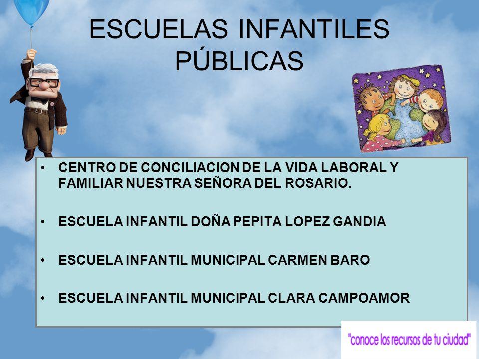 CENTRO DE CONCILIACION DE LA VIDA LABORAL Y FAMILIAR NUESTRA SEÑORA DEL ROSARIO. ESCUELA INFANTIL DOÑA PEPITA LOPEZ GANDIA ESCUELA INFANTIL MUNICIPAL