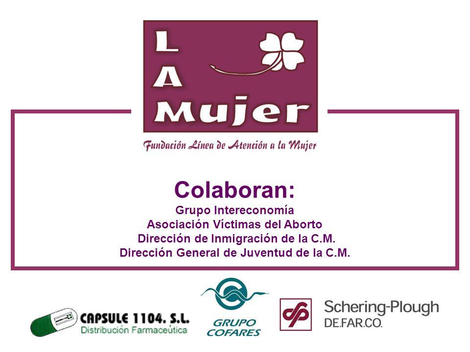 Colaboran: Grupo Intereconomía Asociación Víctimas del Aborto Dirección de Inmigración de la C.M. Dirección General de Juventud de la C.M.