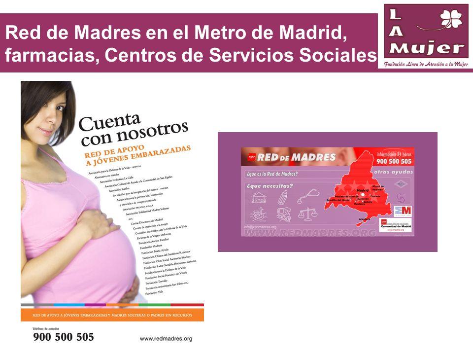 Red de Madres en el Metro de Madrid, farmacias, Centros de Servicios Sociales,…