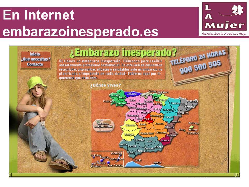 En Internet embarazoinesperado.es