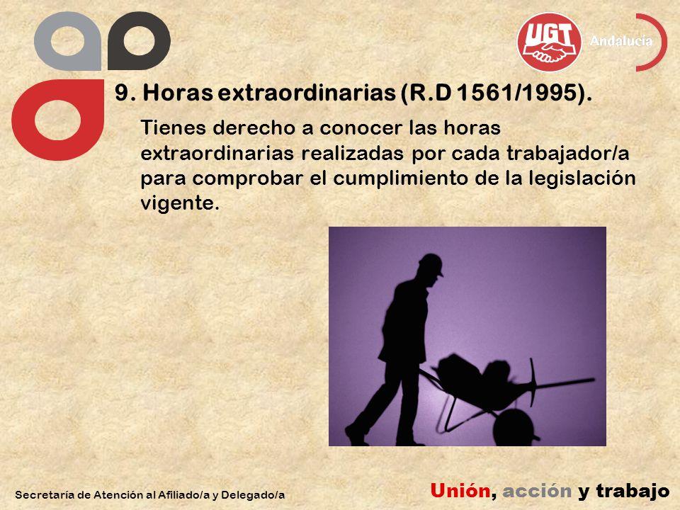 9. Horas extraordinarias (R.D 1561/1995).
