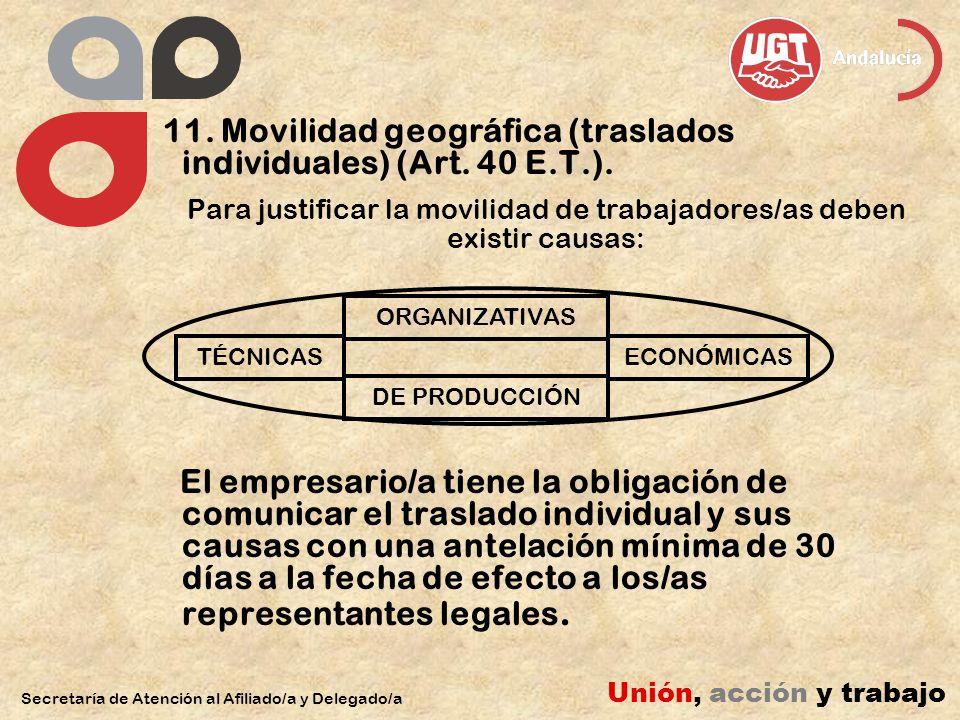 11. Movilidad geográfica (traslados individuales) (Art.