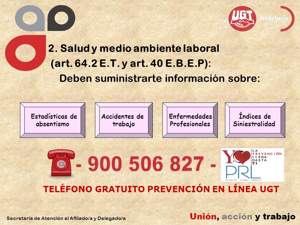 2. Salud y medio ambiente laboral (art. 64.2 E.T.